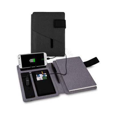 Caderno Com Carregador Power Bank 4000 mah Promocional